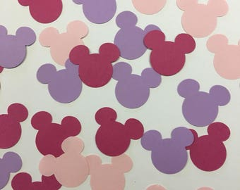 Baby girl baby shower mickey confetti - it's a girl confetti - pink and purple mickey confetti - disney baby shower confetti - pastel disney