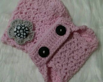Baby Chic Hat and Adjustable Diaper Cover Set: 3-6 months