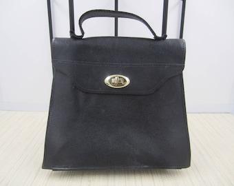 Baci genuine leather black petite purse