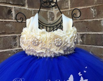 Royal Blue Flower Girl Dress, Royal Blue Tutu Dress, Royal Blue Tulle Dress, Royal Blue Dress, Royal Blue Wedding, Royal Blue