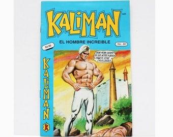 Kaliman El Hombre Increible No 80 El Asesino Invisible Revista en Español Spanish Comic RARE