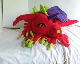 Ruby Red Dragon Plush