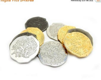 10% off July 4th Pirate Coins BEST DEAL on this Treasure - 12 coins  (RK49B5-01)