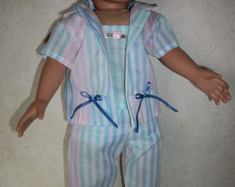 "Summertime pajamas for an 18"" doll"