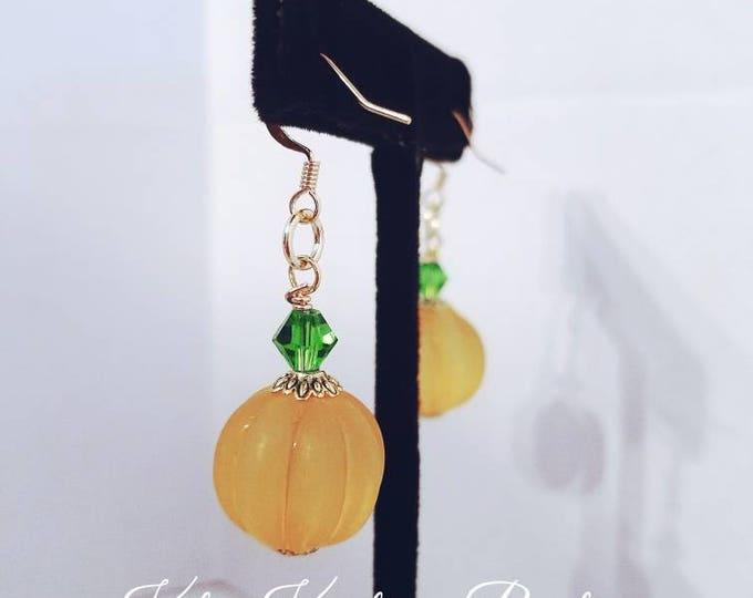 Pumpkin Earrings/Pumpkin Frosted Earrings