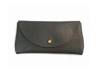 SUNNIES CASE Onyx Black • Oil Tanned Leather Sunglasses Pouch or Wallet