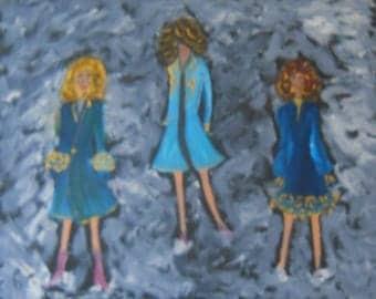 Paper Dolls, 16 x 20, Oil