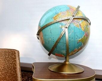 "Vintage Rand McNally triple axis 12"" Globe"