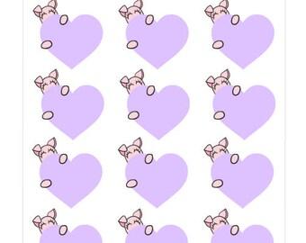 162-Pigga heart planner sticker sheet