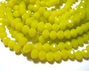 1 Strand Goldenrod Faceted Rondelle Beads 8x6mm