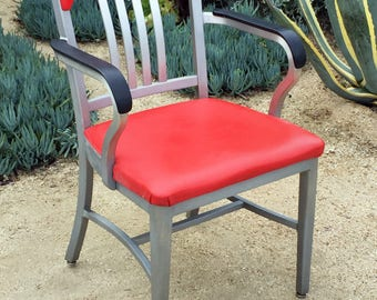 Vintage Goodform Navy chair w/arms