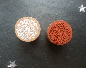 Stamp wood and rubber model lace - type 1
