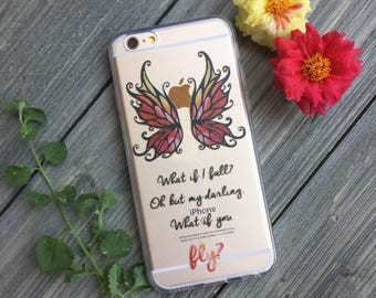 What if You Fly? Phone Case for iPhone 5, SE, 6, 6 Plus, 7, 7Plus, 8, 8 Plus and X. TPU or Wood Options