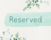 Reserved for Jenna