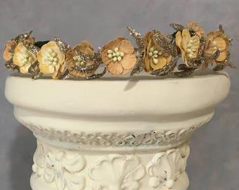rustic head piece wedding Bridal