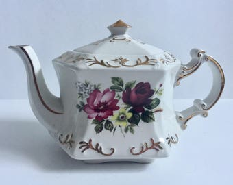 Ellgreave Pottery 6 Cup Teapot Floral