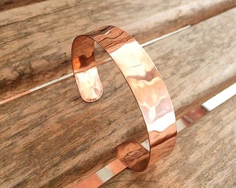 Hammered Copper Cuff Bracelet | Customized Copper Cuff Bracelet | Boho Copper Cuff | Elegant Copper Cuff | Choose Your Size