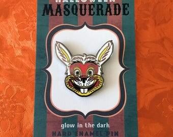 Retro Bunny Halloween Masquerade Enamel Pin