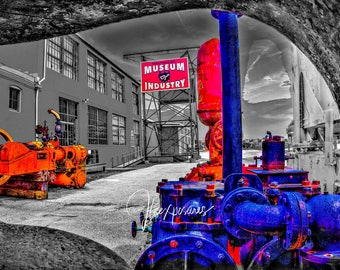 Museum Of industry 5x7  matted on white  mat #1390B