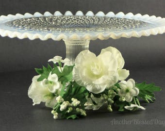 Fenton French Opalescent Hobnail Cake Stand/Fenton Hobnail Cake Stand/Fenton Pedestal Cake Stand/French Opalescent Cake Plate/Fenton Hobnail