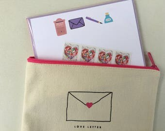 Valentine's Day Gift for Her, Stationery Set, Snailmail, Flat Notecards, Letter Writing Set, for Penpal, Wife, Mom, Girlfriend, Sister, BFF