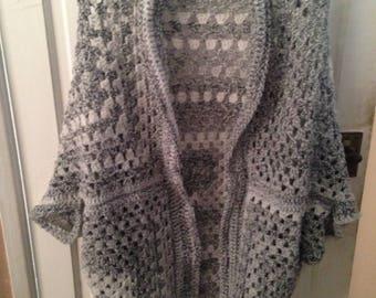 Handmade crochet shrug