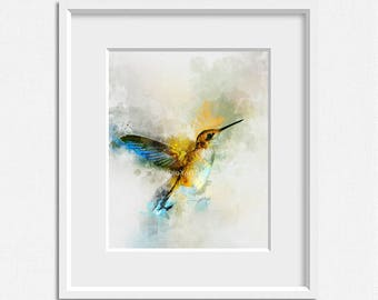 Watercolor painting, watercolor bird, bird print, digital download, printable art wall decor  print modern home decor design artwork