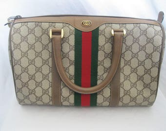 Gucci Red/Green Stripe Boston Bag