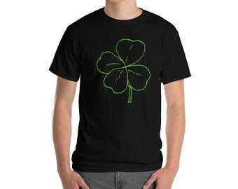 St. Patrick's Day Four Leaf Clover Short-Sleeve T-Shirt