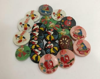 Group Vintage Childrens Buttons