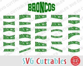 Broncos EZ Layouts, svg, eps, dxf, set of 30, Digital Cut File for cutting machines