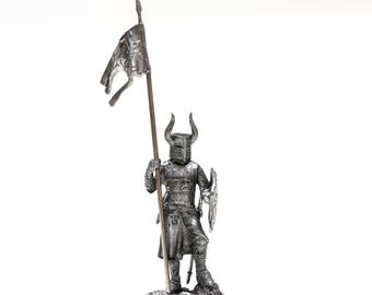 tin 54mm Crusades Teutonic Order. Knight. 1:32 Scale