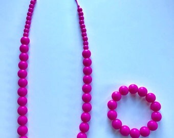 Sale- Hot Pink Pearl Style Set