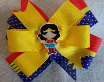 Wonder Woman hair bow