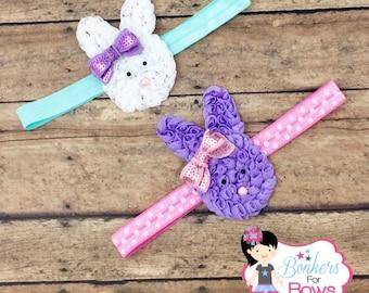 Easter Headband, Baby Headband, bunny headband, Easter bunny headband
