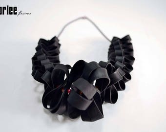 LICORICE DNS. Upcycling jewellery made out of bicycle inner tubes