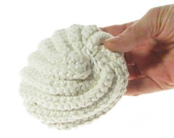 Bath Loofah, bath pouf, cotton bath sponge, spa gift for her