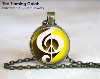 TREBLE CLEF Pendant• Treble Cleff •Gift for a Musician• Music Lover• Gift for Music Teacher•Gift Under 20 • Made in Australia (P1483)
