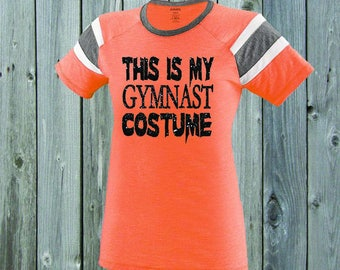 This Is My Gymnast Costume Stripe Tee