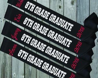BLACK SASH 8th Grade Graduate