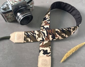 Militaly  DSLR camera strap, Militaly  Camera Strap, leather camera Strap ,