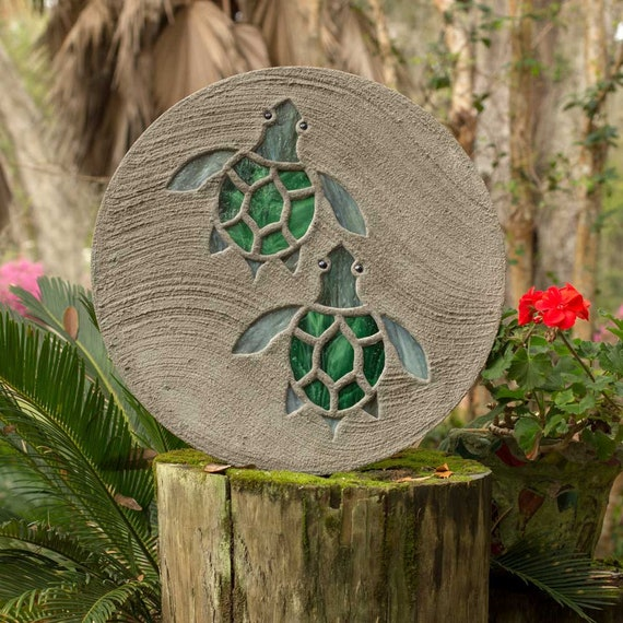 Baby Sea Turtles Hatchlings Stained Glass Stepping Stone #810