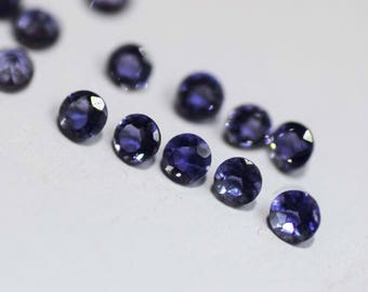 10 % OFF! SALE! 10 Piece Natural Iolite 2.5 MM Round Cut Stone Lot For Jewelry Setting