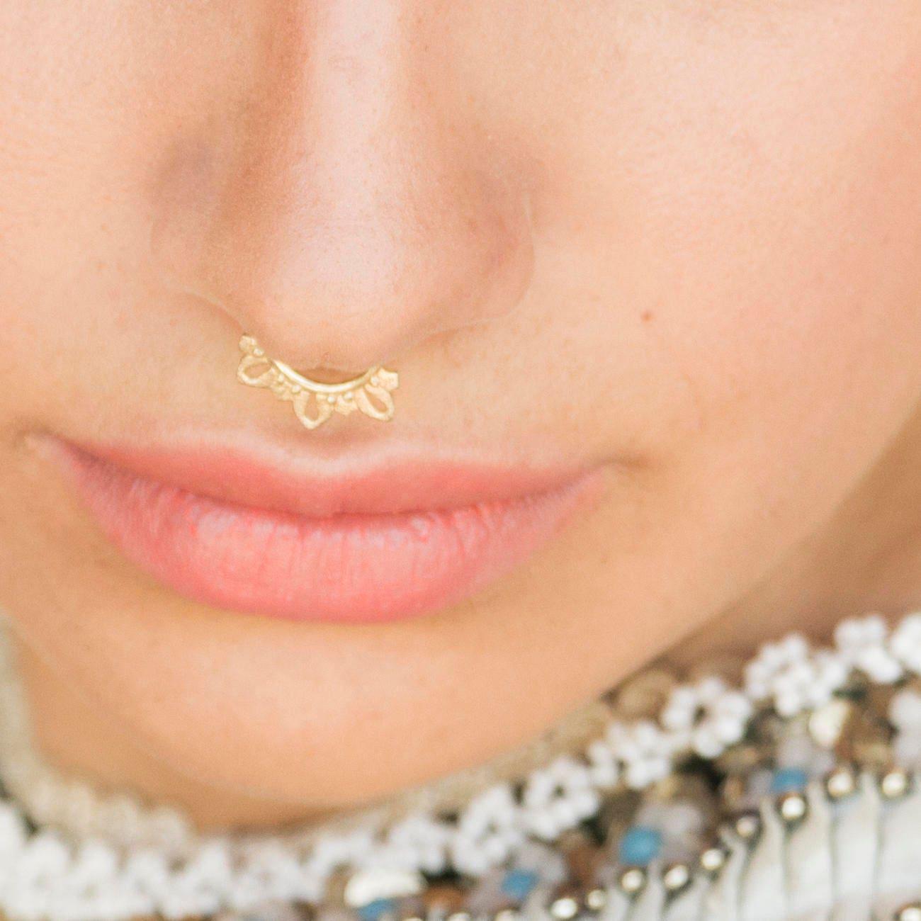 Gold Septum Ring Septum Piercing Gold Nose Ring Septum Ring Nose