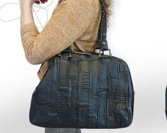 "my ""Balhtazar""          * handbag *tote  *fcarry all  *leather  *recycled *upcycled  *fhandmade *vintage *patchwork"