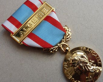 Original French Foreign Legion Campaign Medal. Algeria Campaign Medal of 1954-1964. Mint Condition.