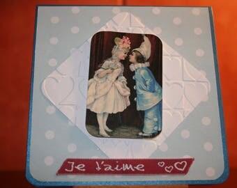 """""""Les amoureux"""" Valentine card"""
