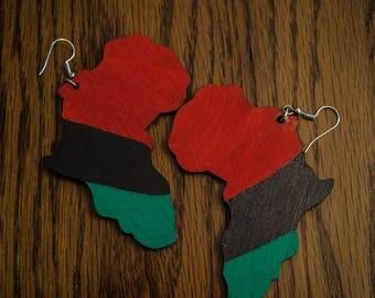RBG Wood Africa Earrings