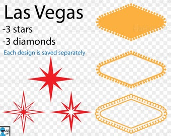 Las Vegas pieces - Clipart / Cutting Files Svg Png Jpg Dxf Studio Digital Graphic Design Instant Download Commercial Use icon blank  01098c