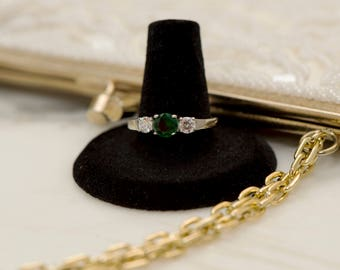 Emerald CZ Ring Stainless Steel Ring
